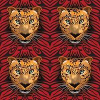 tiger seamless on leopard background vector