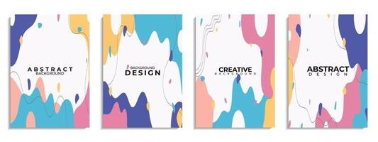 Cover set abstract background Hand drawn various shapes and doodle objects vector