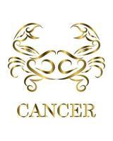 Cancer zodiac line art vector