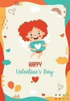 Love Concept With Cartoon Character vector