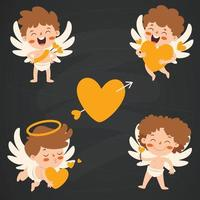 Love Concept With Cartoon Characters vector