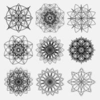 ilustration graphic vector of set of abstract geometric line patterns