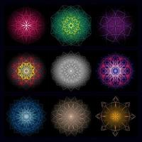 ilustration graphic vector of set of abstract geometric design