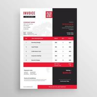Business invoice template vector