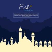 islamic banner Illustration eid al fitr for social media posts vector