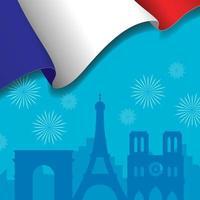 Bastille Day Celebration Background Concept vector