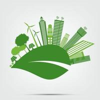 Green cities eco concept