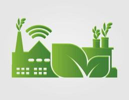 Factory ecology Industry icon vector