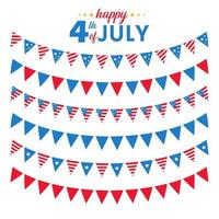 The 4 th of july American flag For celebrating America Independence Day vector