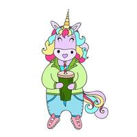 illustration with a unicorn vector
