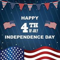 4th Of July Background Concept vector