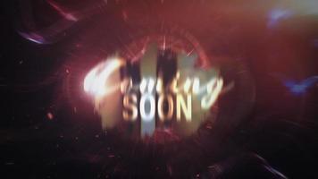 em breve loop título de trailer futurista épico cinematográfico video
