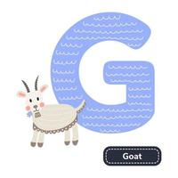 Kids alphabet Letter d Cute nursery goat vector