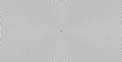 Concentric circle sound wave abstract line pattern vector