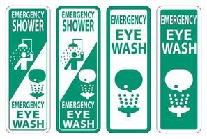 Emergency Shower Eye Wash Sign vector