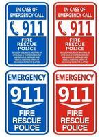 911 Fire Rescue Police Symbol vector