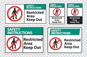 Safety Instructions Restricted Area Keep Out Symbol vector