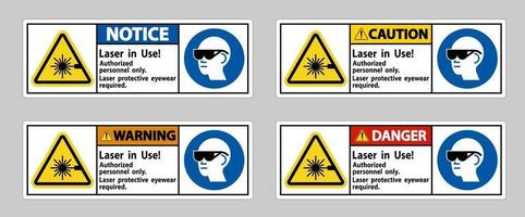 Laser In Use Authorized Personnel Only Laser vector