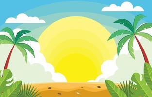 Summer Season Background Concept vector