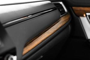 Details of stylish car interior photo
