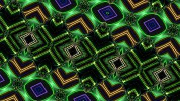 fondo de giro verde neón caleidoscópico video