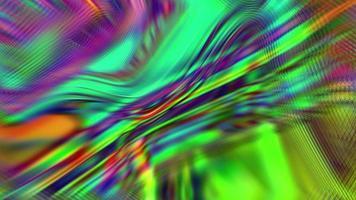 fundo abstrato de néon iridescente fluindo video