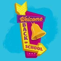 ilustración de banner de regreso a la escuela vector