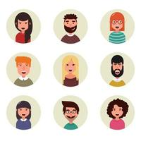 People avatars collection Business characters vector