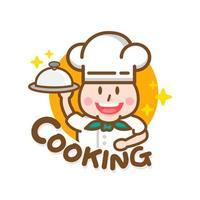 Plantilla de diseño de restaurante etiquetas de gorro de cocinero vector