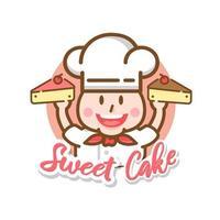 Food Label bakery sweet bakery dessert sweets shop  Design Template vector
