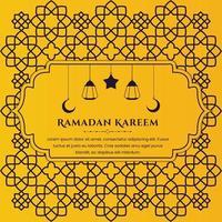 Happy Ramadan Kareem greeting background template Free Vector
