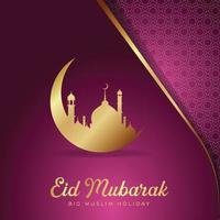Happy Eid Mubarak greeting background template Free Vector