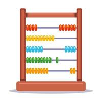 children game abacus for teaching mathematics flat vector illustration