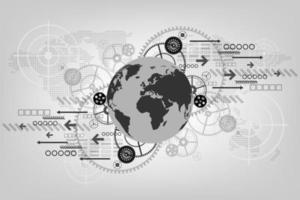 la innovación de vanguardia detrás del mundo desarrollado vector