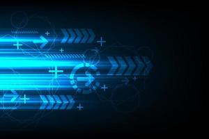Technology of communication speed on blue background vector