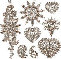 colección de estilo y adornos vector