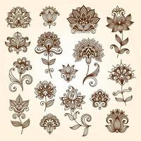 style collection and ornaments vector