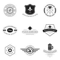 Vintage logo and typography elements vector