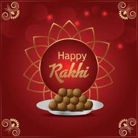 Indian festival happy raksha bandhan festival of brother and sister invitation greeting card vector