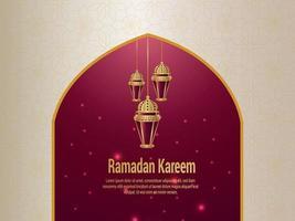 Ramadan kareem vector illustration and creative background