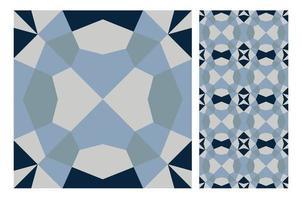 vintage tiles patterns antique seamless design vector