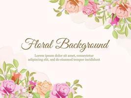 Wedding Banner Background Floral Concept Template Design vector