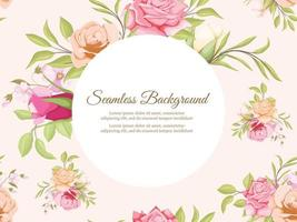 Seamless Pattern Design Floral Concept Template vector