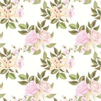 Seamless Pattern For Fashion and Textile With Floral Concept Template vector