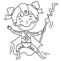 Line Art Drawing For Kids Coloring Page vector