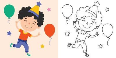 dibujo de arte lineal para niños página para colorear vector