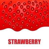 Strawberry sweet fruit illustration for web isolated on white background vector