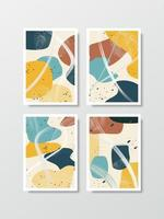 Abstract background vector in art style arranged as a set