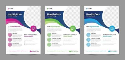 Medical Flyer Template vector design Layout template in A4 size