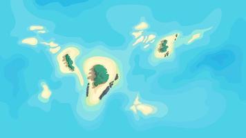 islas deshabitadas en medio del océano vector